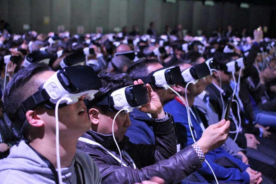 Group of people using Gear VR