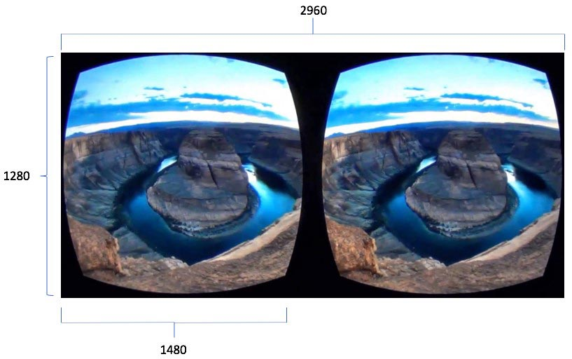 VR Split screen view