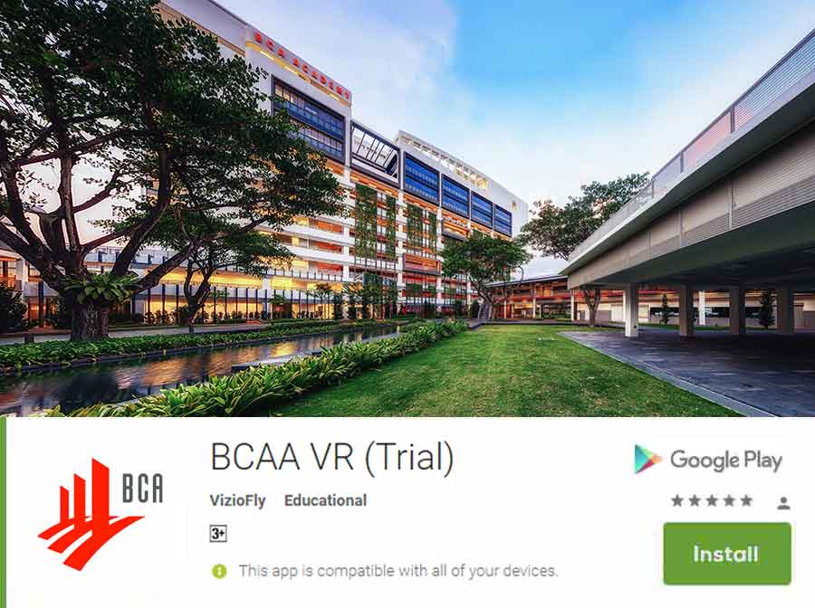 BCAA Virtual Reality Application Screenshot