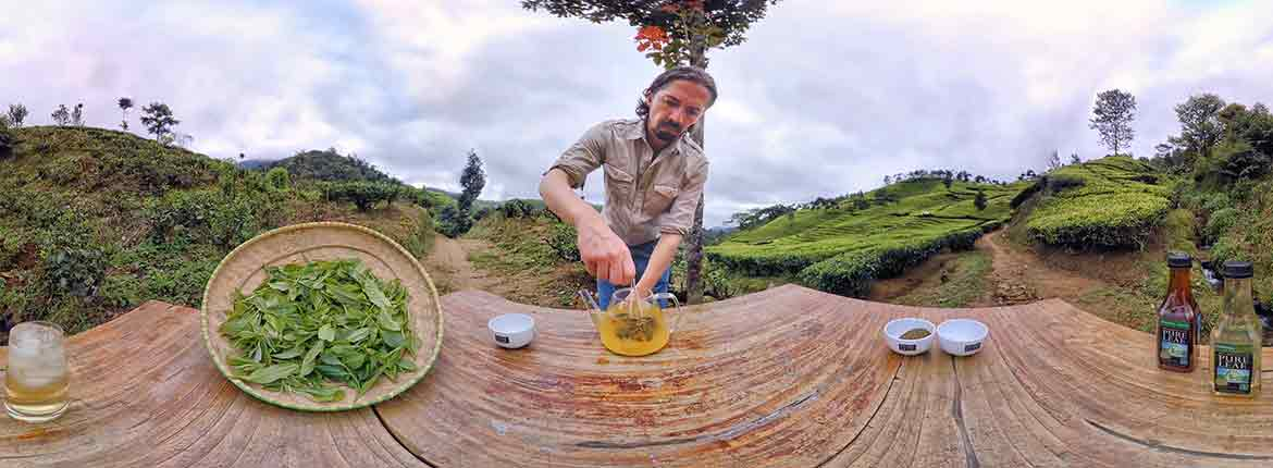 Alex White Mixing Tea in VR