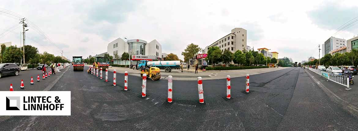 Roadside view while roadworks are ongoing at China