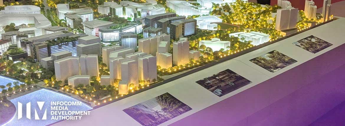 Punggol Digitial District AR Application using an iPad, an augmented reality application developed by VizioFly Singapore